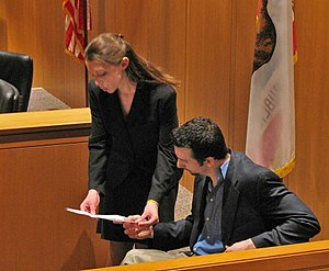 Witness impeachment - An attorney impeaching a witness during a mock trial competition.