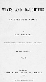 <i>Wives and Daughters</i> novel by Elizabeth Gaskell