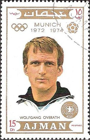 Wolfgang Overath - Image: Wolfgang Overath 1971 Ajman stamp