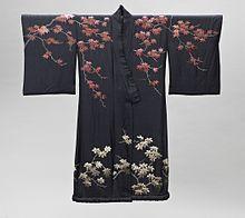 c152610223 Woman s kimono-style dressing gown with sash