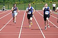 Womens 100m Capt Morgan 32Bn, Pte Carville 27Bn, Cdt Kelly Mil Col (4664577082).jpg