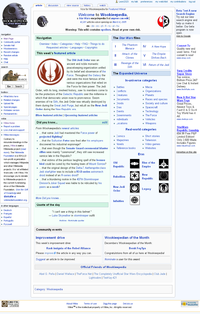 Screenshot of Wookieepedia in 2008.