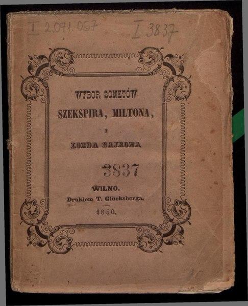 File:Wybór sonetów Szekspira, Miltona i lorda Bajrona.pdf