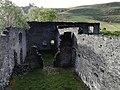 Y tu fewn i adfeilion Gorsaf Bŵer Pont Ceunant, Ceredigion, o'r gogledd.jpg