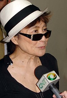 Yoko Ono Japanese artist, author, and peace activist