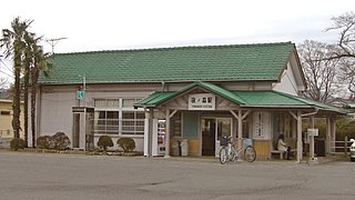 railway station in Tomioka, Futaba district, Fukushima prefecture, Japan