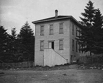 Burke Museum of Natural History and Culture - The Young Naturalists Society clubhouse in Seattle, pictured probably in the late 1800s.