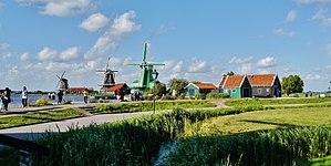 Windmill - Mills in Zaanse Schans, Netherlands.