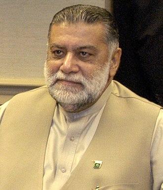 Prime Minister of Pakistan - Image: Zafarullah Khan Jamali (cropped)