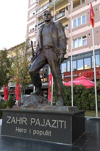 Zahir Pajaziti - Statue of Zahir Pajaziti in Prishtina