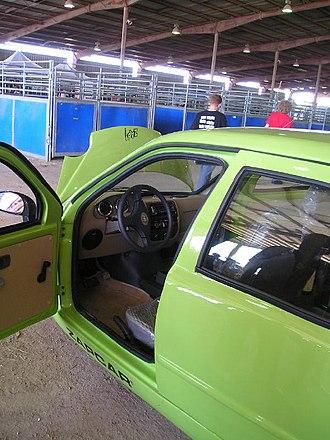 ZAP Xebra - A view of the interior of the Xebra