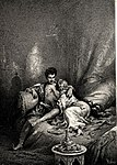 Zichy, Mihály. Illustrations to 'The Knight in the Panther's Skin'. 1888 22.jpg