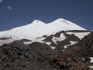 Double summit - The twin-peaked Elbrus in the Caucasus
