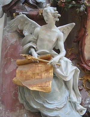 Johann Joseph Christian - Angel in Zwiefalten Abbey