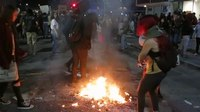 """File:""""fuck donald trump"""" not """"fuck oakland"""" – Protesters put out street fire.webm"""