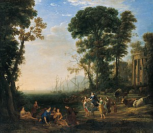 'Coast Scene with Europa and the Bull', oil on canvas painting by Claude Lorrain.jpg