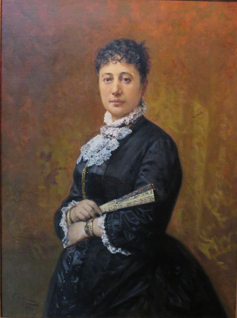 'Portrait of Bernice Pauahi Bishop' by Frederico de Madrazo, Bernice P. Bishop Museum.jpg