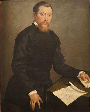 Giovanni Battista Moroni - Image: 'Portrait of a Man', oil on canvas painting by Giovanni Battista Moroni, 1553, Honolulu Academy of Arts