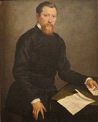 Giovanni Battista Moroni - Image: 'Portrait of a Man', oil on canvas painting by Giovanni Battista Moroni, 1553, Honolulu Academy of Arts