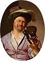 'Self-Portrait as a Merry Taper' by Frans van Mieris, 1673.jpg