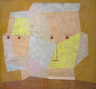 'Two Heads' by Paul Klee, 1932, Norton Simon Museum.JPG