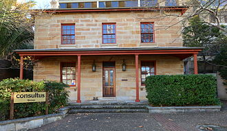North Sydney, New South Wales - Woodstock (1870), one of the last 19th century homes on the Pacific Highway, was the home of John Brown, an early settler in the area