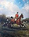 (Albi) Le comte Geoffroy de Ruillé chassant à courre, son fils à ses côtés, le château de Gallerande au fond - René Princeteau MTL.inv.04.04.01.jpg