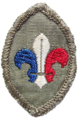 Éclaireurs français en Grande-Bretagne, mouvement scout de la France libre. insignia cloth.png