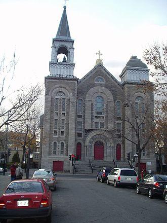 Ville-Émard - Church of Notre-Dame-Du-Perpétuel-Secours on Monk blvd.
