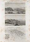 Île d'Éléphantine et environs. 1-3. Vue et plans de la cataracte de Syène (Aswân) et des environs; 4. Vue des ruines d'Éléphantine (NYPL b14212718-1267859).jpg