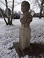 Žďár nad Sázavou - busta v parku u Ivana.JPG