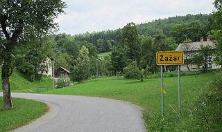 Žažar Place in Inner Carniola, Slovenia