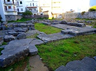 Arta, Greece - Ruins of the ancient temple of Apollo Pythios Sotiras