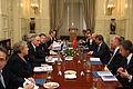 Συνάντηση Αντιπροέδρου της Κυβέρνησης και ΥΠΕΞ Ευ. Βενιζέλου με ΥΠΕΞ Τουρκίας Α. Davutoglu (13.12.2013) (11355526696).jpg