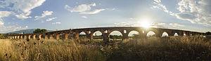 Skopje Aqueduct - Image: Аквадукт, Скопје, панорама, 2014