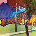 Кандинский Осенний этюд у Оберау 1908 л.png