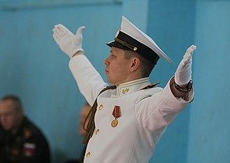 Bandmaster - A Russian naval bandmaster.