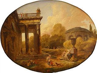 Vue sur les jardins Borghese à Rome