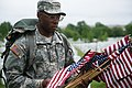 """""""Flags in"""" with The Old Guard in Arlington National Cemetery (17951157355).jpg"""