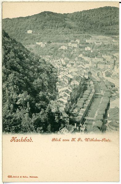 File:00635-Karlsbad-1898-Blick von dem Kaiser Friedrich Wilhelm Platz-Brück & Sohn Kunstverlag.jpg