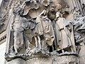 009 Sagrada Família, façana del Naixement, porta de l'Esperança, fugida a Egipte.jpg