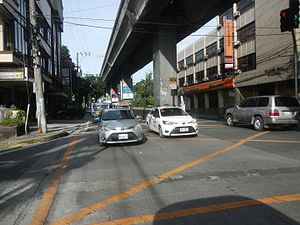 Aurora Boulevard - Aurora Boulevard at the intersection with Balete Drive in New Manila, Quezon City.