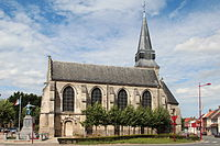 0 Aix-Noulette - L'église et la place Saint-Germain.JPG