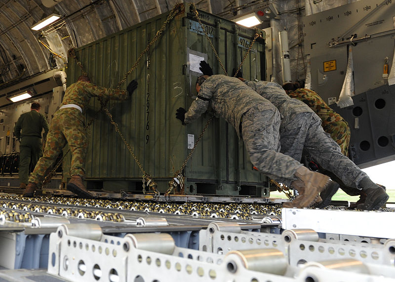 File:110324-F-AM028-188 RAAF C-17 loading container at Kadena.jpg