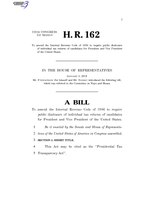 116th United States Congress H. R. 0000162 (1st session) - Presidential Tax Transparency Act.pdf