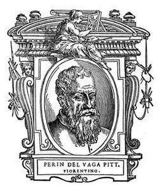 """Perino del Vaga - Portrait of Perin del Vaga (anonymous), Illustration from """"Le Vite"""" by Giorgio Vasari, 1568."""