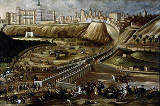 vue de l'Alcazar et du Pont de Ségovie