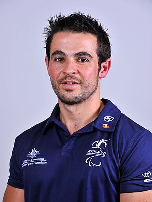 Tristan Knowles - 2012 Australian Paralympic Team portrait of Knowles