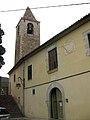 15 Sant Genís dels Agudells, rectoria i campanar.jpg