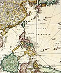 1680 Map of Formosa (Taiwan), Philippines, and other South East Asia Countries by Dutch 荷蘭人所繪福爾摩沙-臺灣, 菲律賓, 與東南亞.jpg